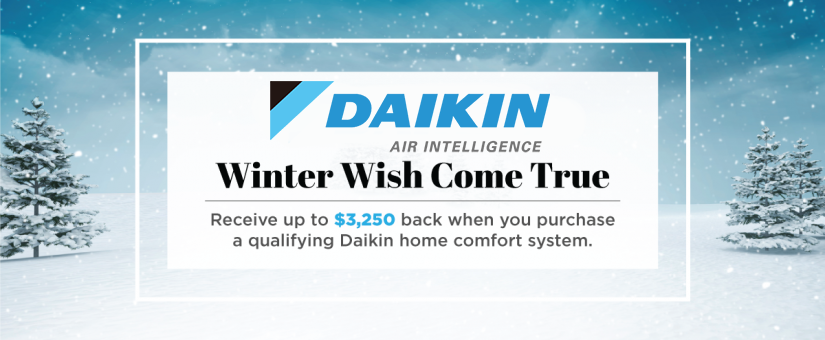 Upgrade Your Home Heating with Furnace Replacement Through the Daikin Winter Promo!
