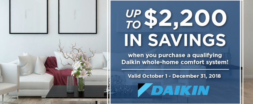 Rake in the Savings with our Daikin Fall Promotion