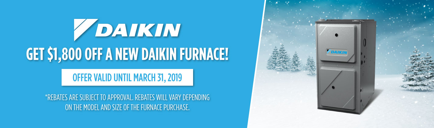 New Daikin Furnace Rebate WIndsor