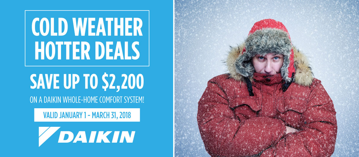 Conquer Cold Climates with Our Daikin Winter Promotion